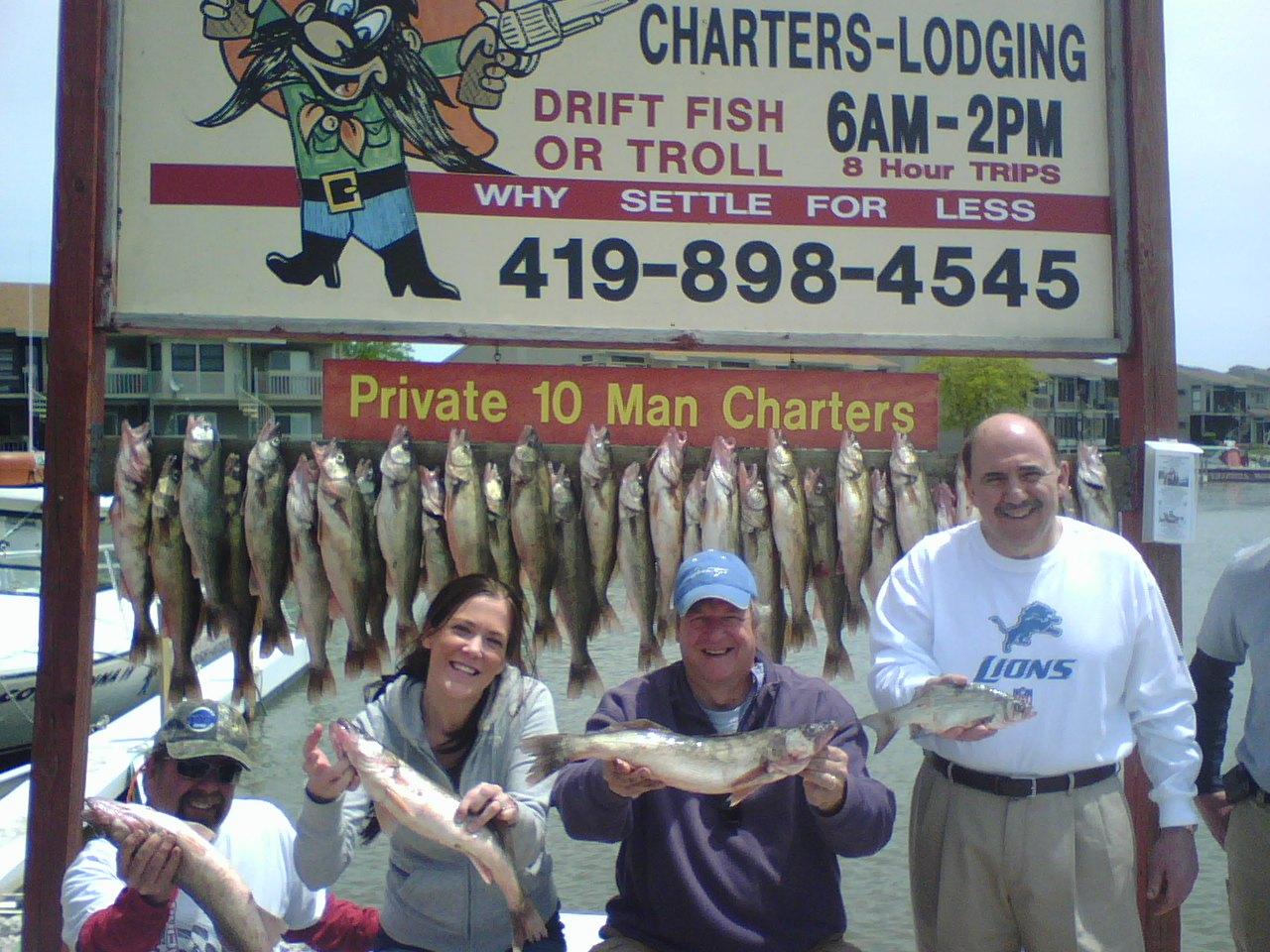 Lake erie fishing charters walleye fishing charters port for Lake erie western basin fishing report
