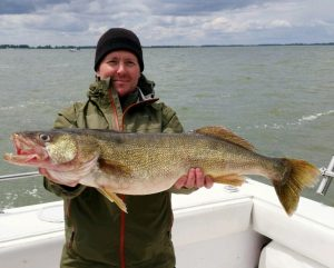 Lake Erie walleye charter fishing trips Port Clinton