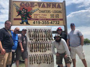 Walleye fishing on Lake Erie