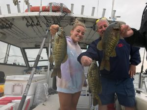 Lake Erie Fishing for Small mouth Bass