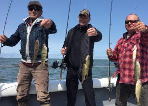 Perch fishing on Lake Erie near Port Clinton, OH